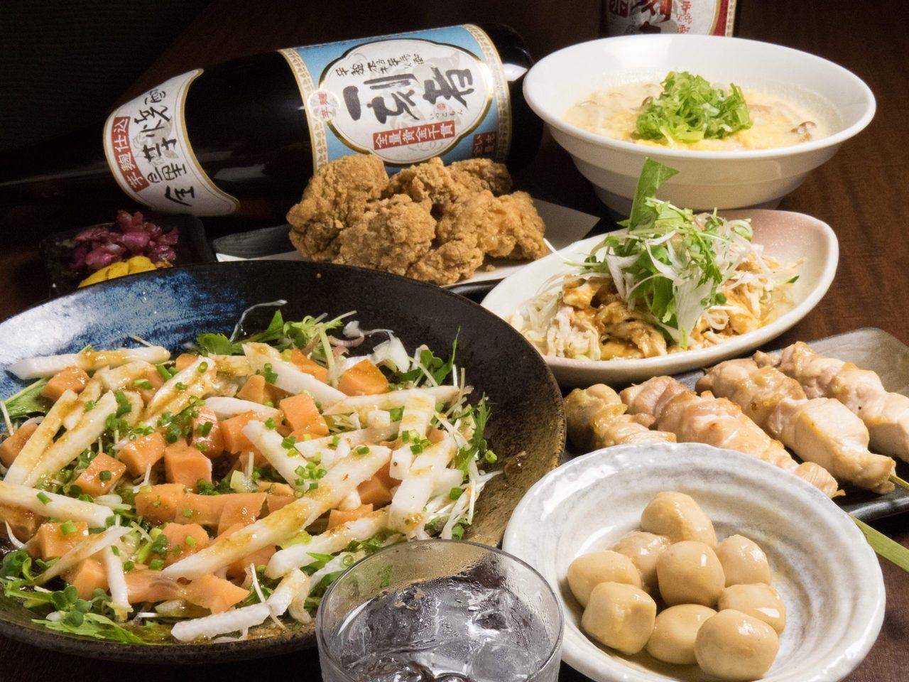 ◆季節の旬菜コース◆2H飲放付き4000円⇒3000円(税込)