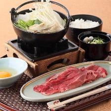 京野菜と国産牛のすき焼き / 選べるメイン料理