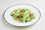 チンゲン菜と干しエビの炒め