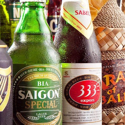 料理に合わせてベトナムビールを!!