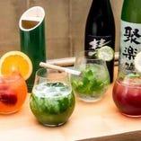 抹茶や季節のフルーツを使った日本酒カクテルはインスタ映え確実