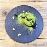 抹茶フォンダンは、福寿園抹茶粉を使用しています