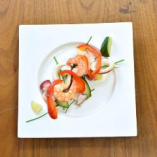 日本酒にも合う 海老・イカ・タコと野菜のマリネ