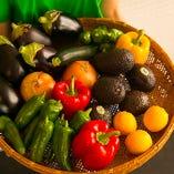 地元野菜も取り入れて、季節の野菜をたっぷり使っています