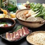[老舗の味]鴨と野菜の旨み出汁がたっぷり鴨鍋♪きしめんで〆