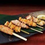 おまかせ串焼き5種盛り(塩・タレ)