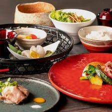 コースを彩る日本料理