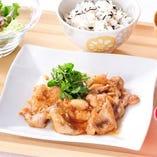 那須高原豚の生姜焼き定食1,242円(税込)