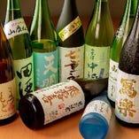 地元福島の地酒をメインに10種類以上の日本酒を常備!