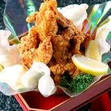鶏の唐揚げ~鳥海山風