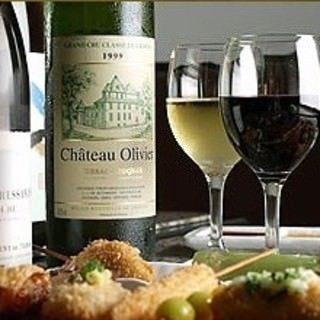 ワインも多数御用意しております。