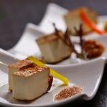彩り豆腐の三種盛り 580円(税抜)