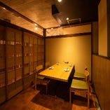 【ゆったりテーブル個室】2名~最大14名様までの扉付き和装個室