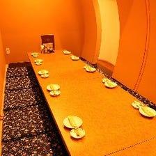 宴会個室席は最大15名までOK!