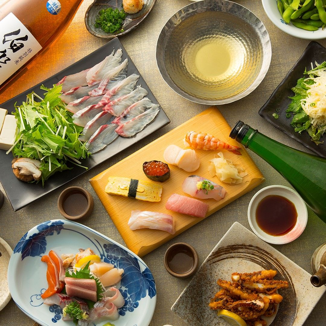 海鮮しゃぶしゃぶ×自慢の寿司を堪能