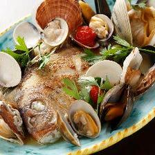 本日の一本魚のアクアパッツァ