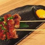 和牛とえのきのすき焼き串