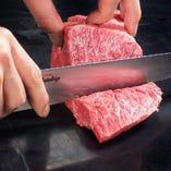 お肉は手切りが一番美味しい