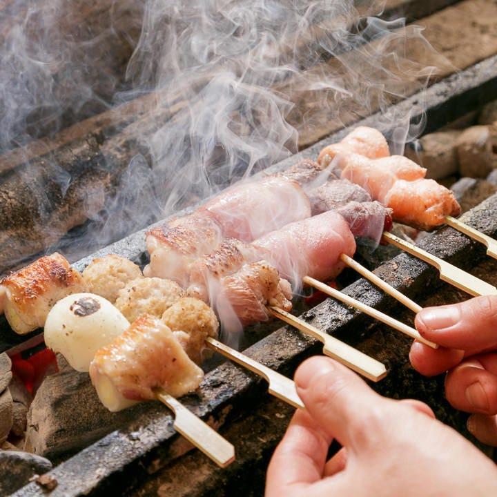近江黒鶏や創作串も味わえる♪