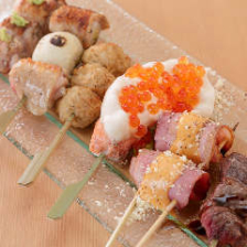 美味しい創作串料理や焼き鳥が目白押し