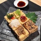 増田豆腐店こだわりの豆腐を使ったメニューの数々