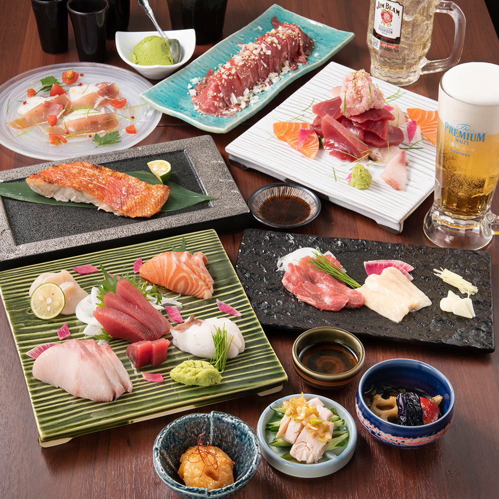 絶品の海鮮料理が盛りだくさんのご宴会コースは4000円から用意♪