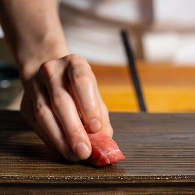 新宿 鮨 栞庵 やましろ 肉の心  店内の画像
