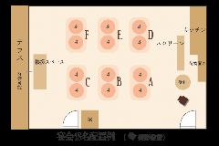 【貸切宴会】36名様~50名様 パターンA 平面図