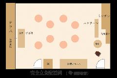 【貸切宴会】完全立食パーティー 平面図
