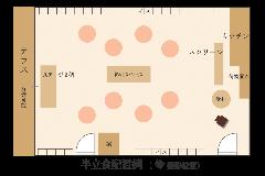 【貸切宴会】半立食パーティー 平面図
