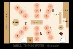 【結婚式二次会】70名様~100名様 平面図