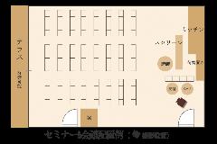 【セミナー&会議】84名様 テーブル無し 平面図