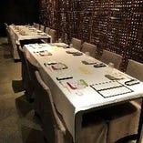【個室】テーブル席(2~6名様、5~8名様)5部屋      ※最大12名様でご利用いただけます