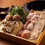 日南鶏肉と鶏つくねのすき焼き