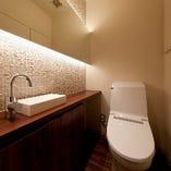 女性に嬉しい清潔感のあるトイレ。