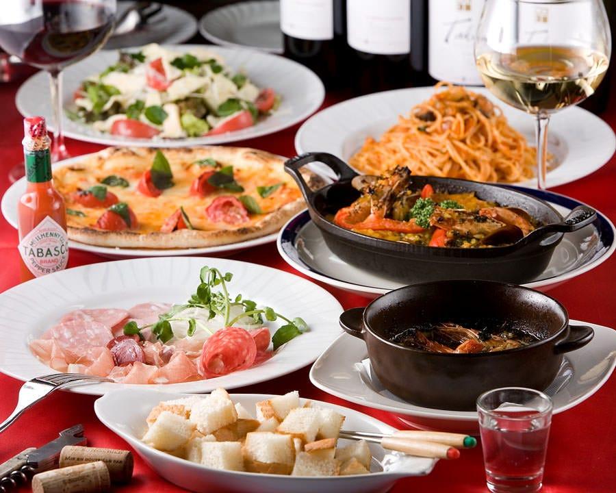 本格イタリアンが楽しめるコース料理