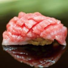 超一流寿司職人が握る本格江戸前寿司