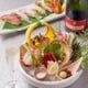 産地のわかる新鮮な鮮魚を使用しています。鮨は拘りの赤酢で。