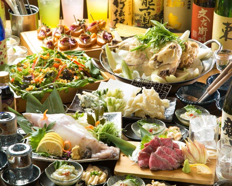 ふもと赤鶏を堪能できる宴会コースを2,500円~ご用意してます!