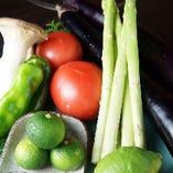 魚はもちろん、野菜も地元のものを意識して仕入れております。