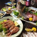 飲み放題付コースは3,980円~。たっぷりの魚料理をご堪能ください!
