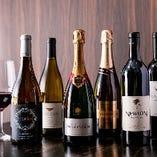 世界各国の名産地から取り寄せた自慢のワインは20種以上