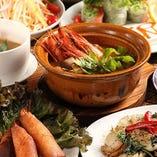スパイス香る豪華アジア料理をご堪能いただける2.5H飲み放題付「特選アジア料理コース」
