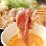 関東風のすき焼きはお好みで卵を絡めて♪