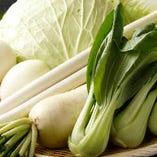 新鮮な野菜もバイキング形式で食べ放題!