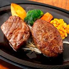 黒毛和牛サーロインステーキ & ハンバーグ