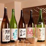 日本酒の種類も豊富に取り揃えています。