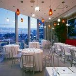12階からの景色に囲まれた開放的な空間は各種パーティーにも!