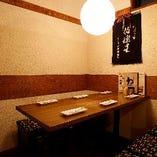 2~4名様向けのテーブル席個室は人気!予約必須!!