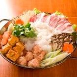 串屋でつくる鍋コース!みぞれ鍋で身も心も暖まる。